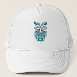 blaue dreamcatcher Eule Truckerkappe