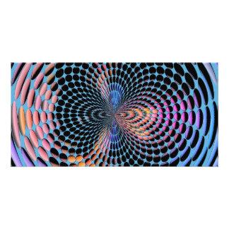 Blaue Drehbeschleunigung Photogrußkarten