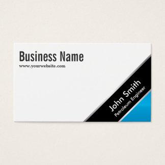 Blaue Eckerdöl-Ingenieur-Visitenkarte Visitenkarte