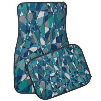 Blaue Edelstein-Art-dekoratives Set von 4 Autofußmatte