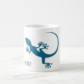 Blaue Eidechse, geko - Faraglioni, Capri, Italien Kaffeetasse