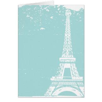 Blaue Eiffelturm-Hochzeit danken Ihnen Karten