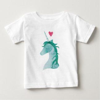 Blaue Einhorn-Magie mit Herzen Baby T-shirt
