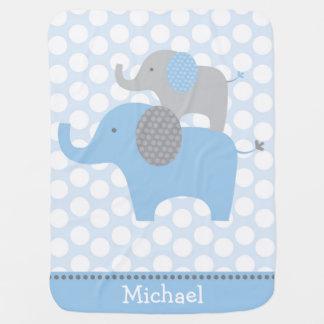 Blaue Elefant-Baby-Decke Babydecke