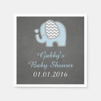 Blaue Elefant-Babyparty-Servietten Papierservietten