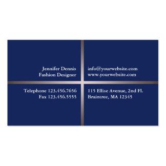 Blaue elegante Visitenkarte