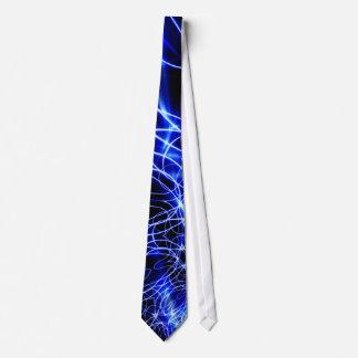 Blaue Energie-Linien, Fantasie-Blau-Blitz Bedruckte Krawatte