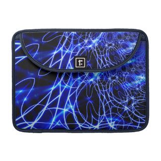 Blaue Energie-Linien, Fantasie-Blau-Blitz MacBook Pro Sleeve