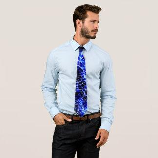 Blaue Energie-Linien, Fantasie-Blau-Blitz Personalisierte Krawatte