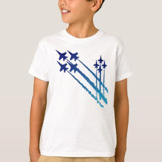Blaue Engels-doppelter Diamant-KinderT - Shirt