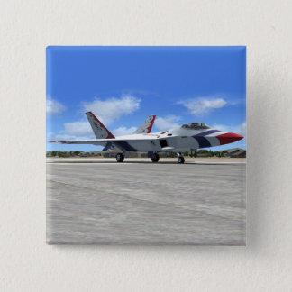 Blaue Engels-Jet-Kämpfer-Flugzeug des Quadratischer Button 5,1 Cm
