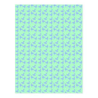 Blaue Enten Postkarte