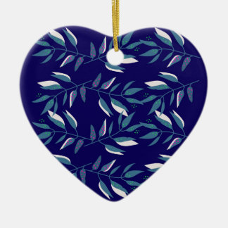 Blaue Entwurfselemente Volks Keramik Ornament