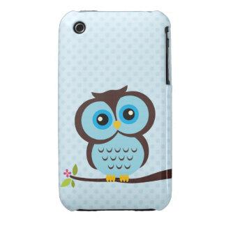 Blaue Eule iPhone 3 Hülle
