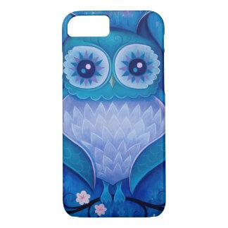 blaue Eule iPhone 7 Hülle