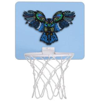 Blaue Eule Mini Basketball Ring