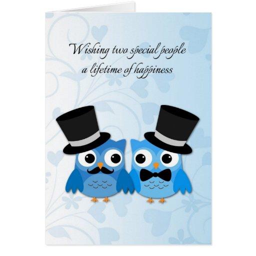 Blaue Eulen, homosexuelle Männer, die Glückwünsche Grußkarte
