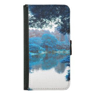 Blaue Farbe bewirkte coole, einzigartige Natur, Geldbeutel Hülle Für Das Samsung Galaxy S5