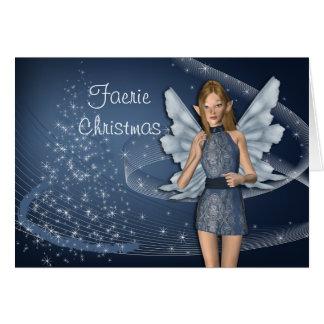 Blaue Fee für Weihnachten Karte