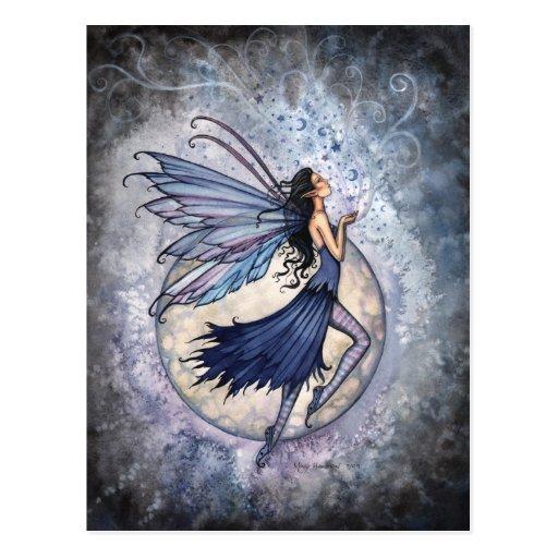Blaue feenhafte Mitternachtspostkarte durch Molly  Postkarten