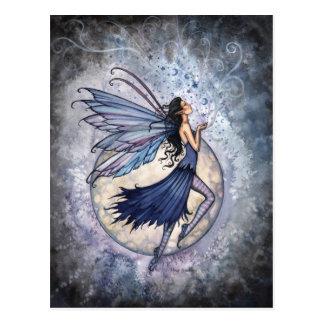 Blaue feenhafte Mitternachtspostkarte durch Molly Postkarte