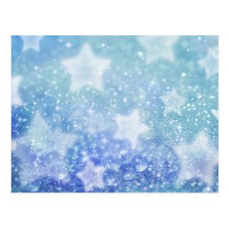 Blaue feenhafte Staubpostkarte Postkarte