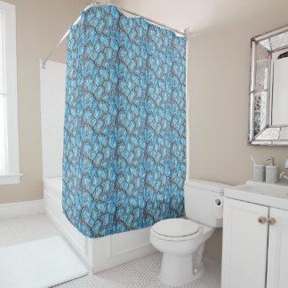 Blaue Felsen-Duschvorhang Duschvorhang