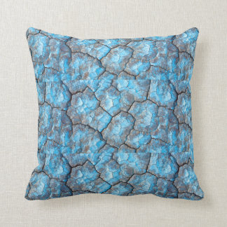 Blaue Felsen-Wurfs-Kissen Kissen