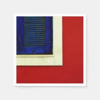 Blaue Fensterplatte Papierserviette