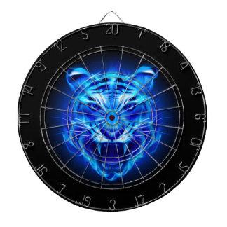 Blaue Feuer-Tiger-Gesichts-Dartscheibe Dartscheibe