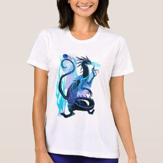 Blaue Feuer-und Hintergrund T - Shirts