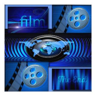 Blaue Film-Collage Fotodruck
