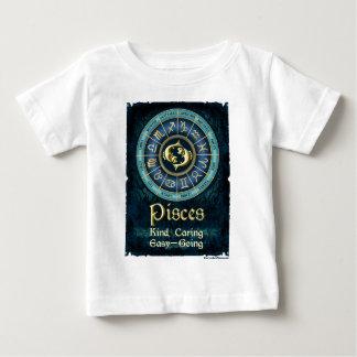 Blaue Fisch-Collage Baby T-shirt