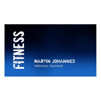 Blaue Fitness-moderne Geschäfts-Karte Visitenkartenvorlagen