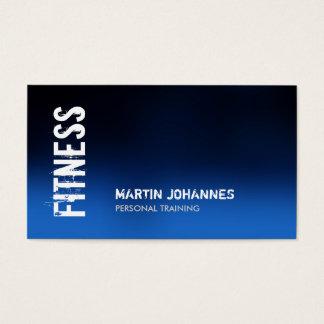 Blaue Fitness-moderne Geschäfts-Karte Visitenkarten