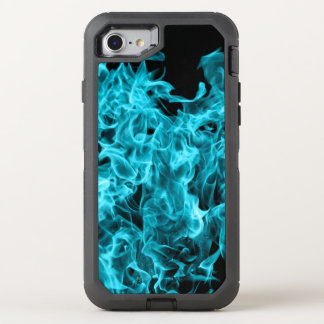 Blaue Flammen OtterBox Defender iPhone 8/7 Hülle
