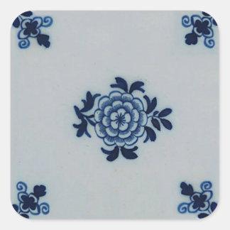 Blaue Fliese klassischer Antiquarian-Delfts - Blum Sticker