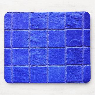 Blaue Fliesen Hintergrund Mousepad