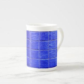 Blaue Fliesen Hintergrund Porzellantasse