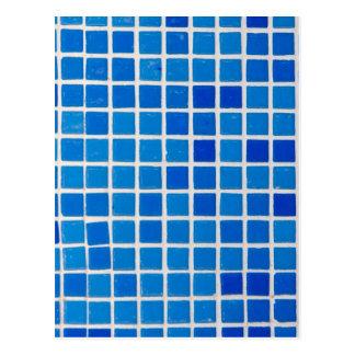 Blaue Fliesen Postkarte