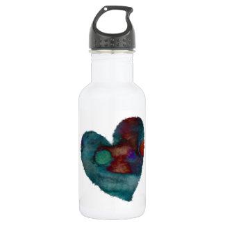 Blaue flockige Herz-Wasser-Flasche Trinkflasche