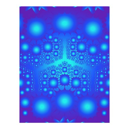 Blaue Fraktal-Explosionen: Custom Flyer