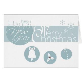 Blaue frohe Weihnachten Karte