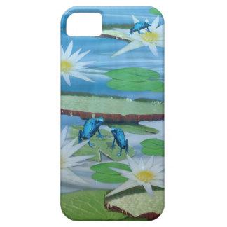 Blaue Frösche auf Lilien-Auflagen, Barely There iPhone 5 Hülle