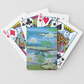Blaue Frösche auf Lilien-Auflagen, Bicycle Spielkarten