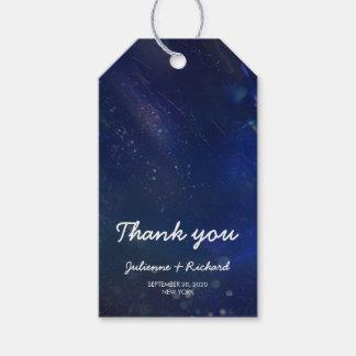 """Blaue Galaxie-Gastgeschenke Hochzeit """"dankt Ihnen Geschenkanhänger"""