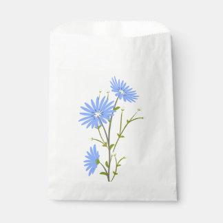 Blaue Gänseblümchen-Blumen-mit Geschenktütchen