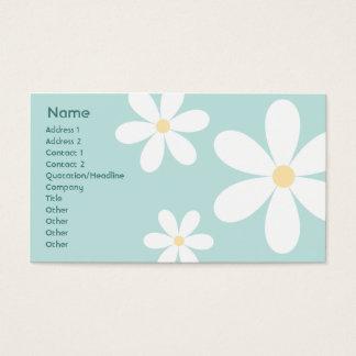 Blaue Gänseblümchen - Geschäft Visitenkarte