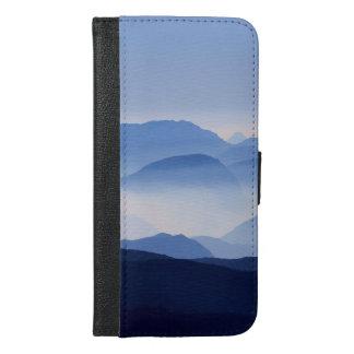 Blaue Gebirgsnachdenkliche entspannende iPhone 6/6s Plus Geldbeutel Hülle