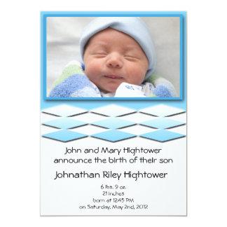 Blaue Geburts-Mitteilung Little Boys 12,7 X 17,8 Cm Einladungskarte